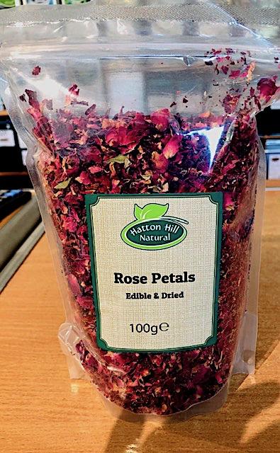 Rose Petals 100g (Edible & Dried)