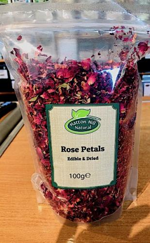 Rose Petals 100g (Edible & Dried)