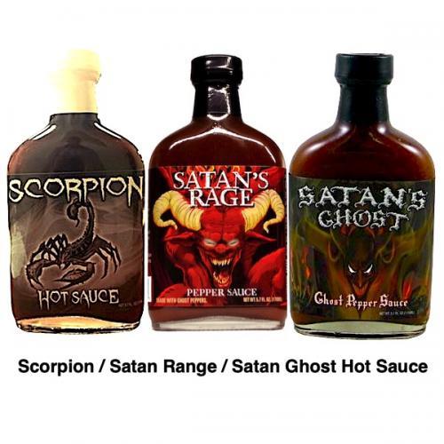 SCORPION SATAN'S RAGE SATAN'S GHOST HOT SAUCE