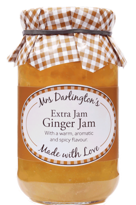 Mrs Darlington's Extra Jam, Ginger Jam​​​​​​ 340g