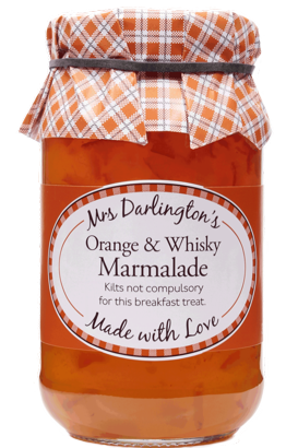 Mrs Darlington's Medium Cut Orange Marmalade With Scotch Whisky 340g