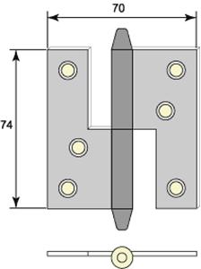 Gångjärn 5022