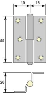 Skåpgångjärn 5055
