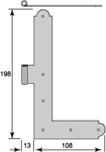 Vinkelgångjärn 5074