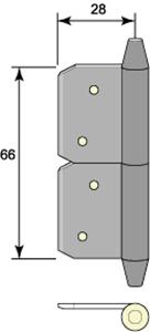 Insticksgångjärn 5111