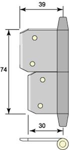 Insticksgångjärn 5113
