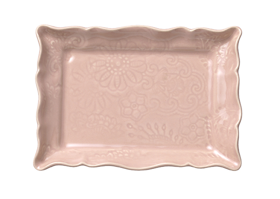 Appetizer plate, powder pink