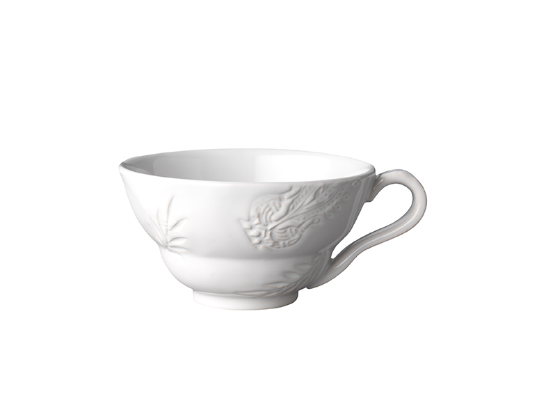 Cup with handle, white