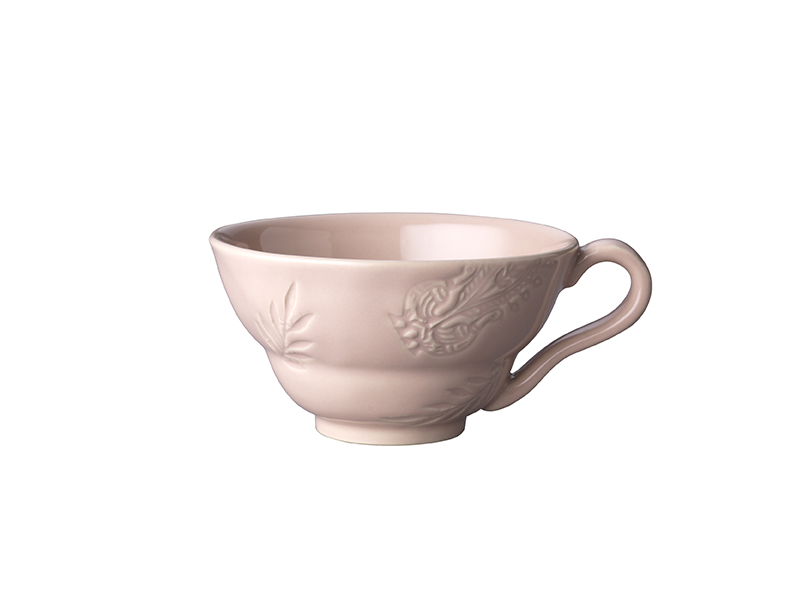 Cup with handle, powder pink