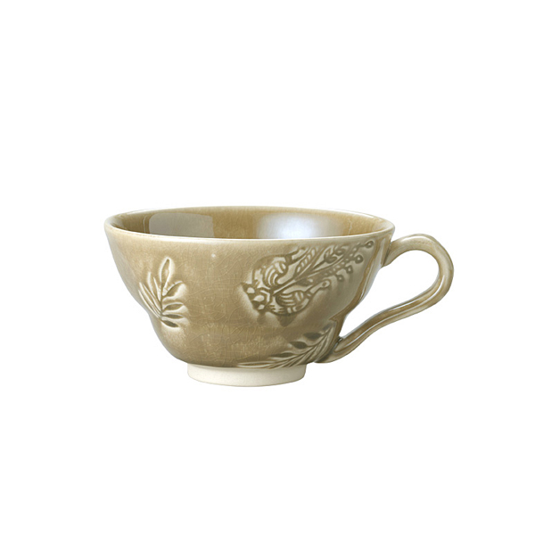 Cup with handle, sand