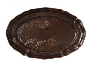 Large oval dish, coffee