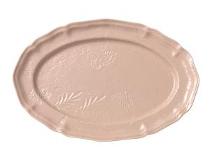 Large oval dish, powder pink
