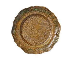 Large round dish, pineapple