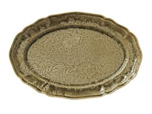 Large oval dish, sand