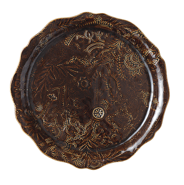Round serving plate/pizza plate, coffee