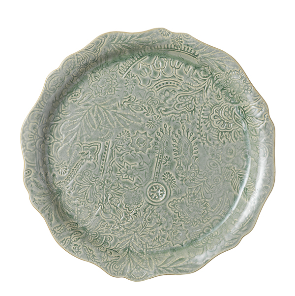 Round serving plate/pizza plate, antique
