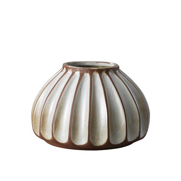 Salon large round vase, putty