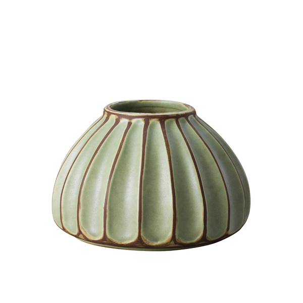 Salon large round vase, avocado