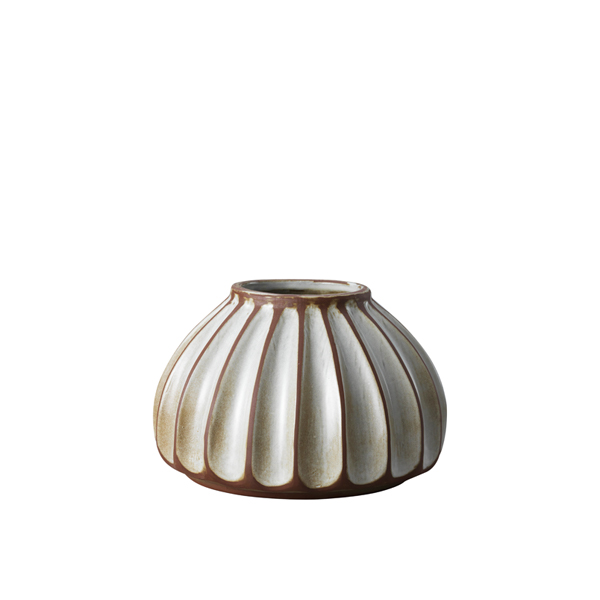 Salon small round vase, putty