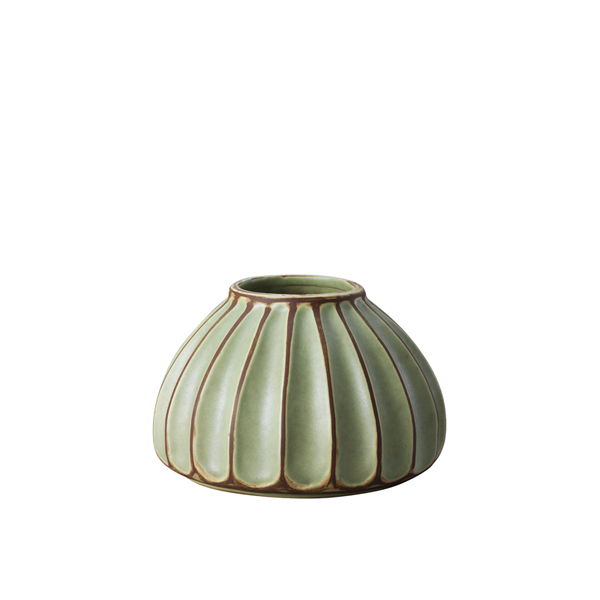 Salon small round vase, avocado