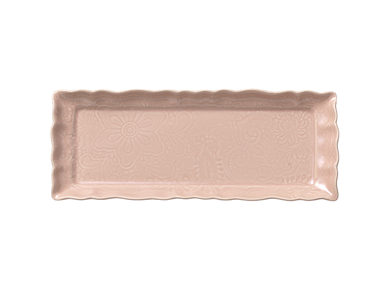 Tray dish, powder pink