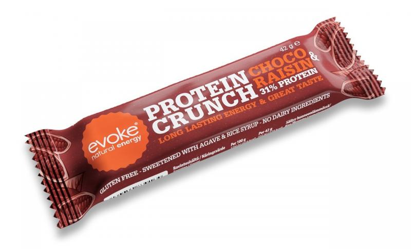 Evoke Choco Raisins Crunch Bar - Vegan/Mjölkfri Proteinbar