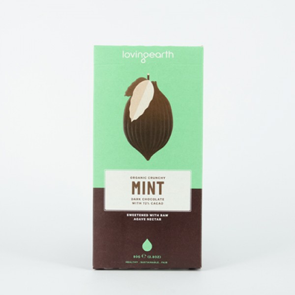 Loving Earth - Crunchy Mint - RAW, Vegan , Mjölkfri