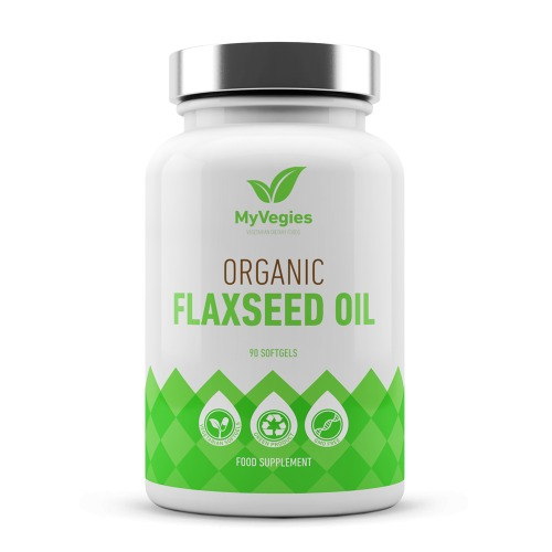 Organic Flaxseed Oil - Omega 3 - 90  softgels