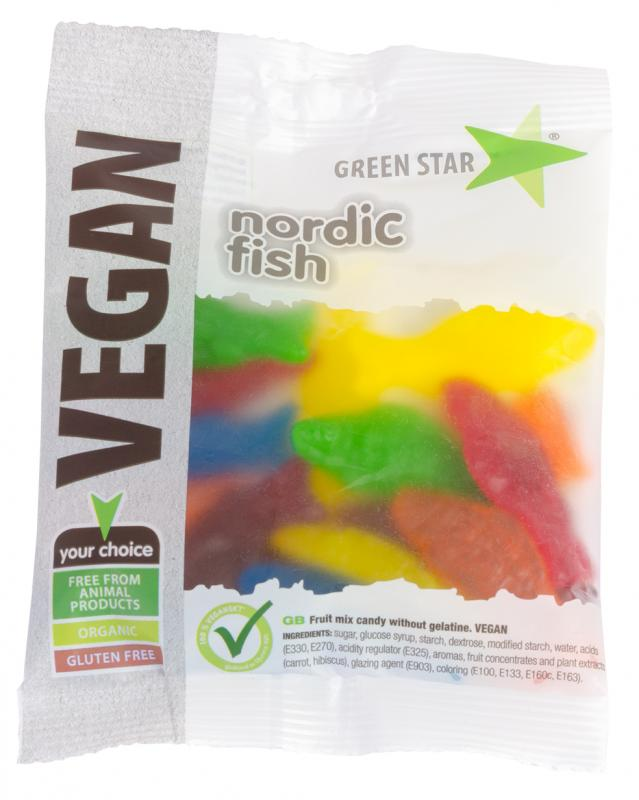 Nordic Fish Mix 80g  Vegan Godis
