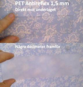 PET antireflex 125 x 205 cm. 1,5 mm