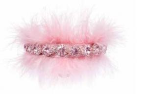 Pink jewel halsband med stenar