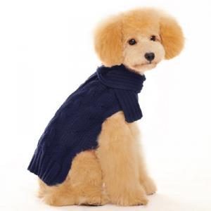 REA! Mörkblå kabelstickad tröja med scarf
