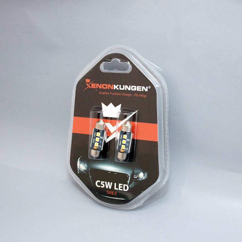Spollampa 36MM C5W LED 3SMD 6000K