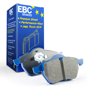 Bromsbelägg EBC Bluestuff till D2 bromskit