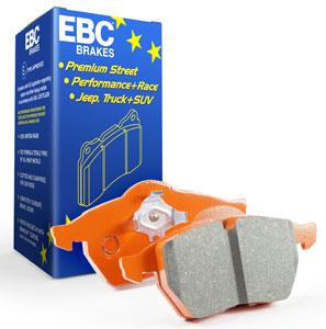 Bromsbelägg EBC Orangestuff till D2 bromskit