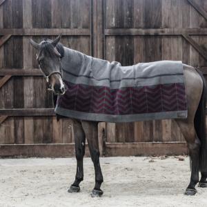 Heavy Fleece rug square fishbone