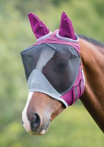 Shire Deluxe Fly Mask Med Öron - Mixade färger