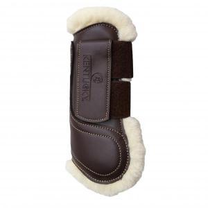 Kentucky Sheepskin Leather Tendon Boots Hook & Loop