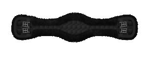 Mattes anatomisk dressyrgjord svart/svart