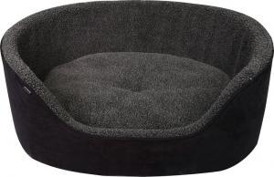 Hundbädd med hög kant grå/svart