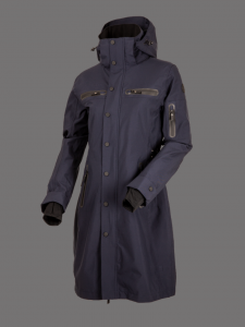 Uhip Trench Mid Length Coat Indigo blå