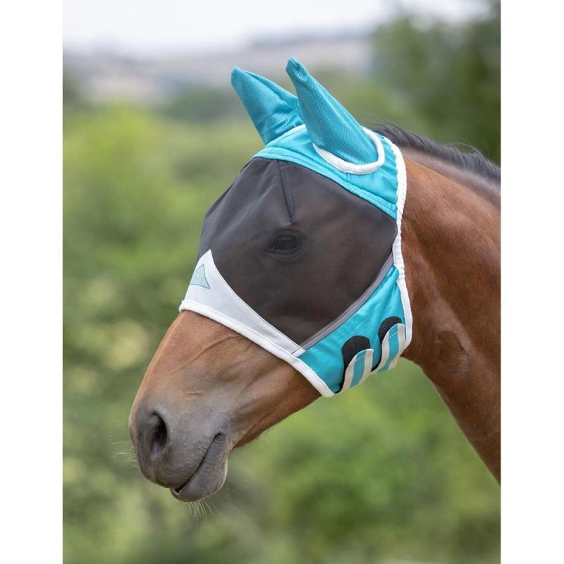 Shires Fly Mask fine mesh med öron - Mixade färger