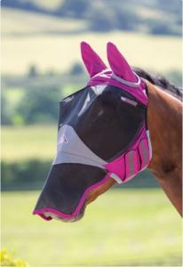 Shires Deluxe Fly Mask With Ears & Nose - mixade färger