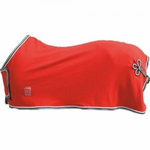 HorseGuard Fleecetäcke med bogplatta och svansfläta - Rött 115cm