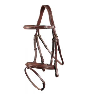 Ikonic Anatomic Flash Bridle brun/cob