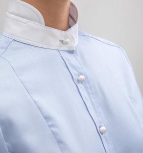 Droska kortärmad skjorta Irma blå fiskben