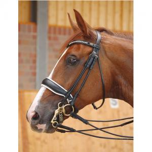 Dyon Rundsytt Kandar Bred Vitfodrad Pullback - Dressage Collection