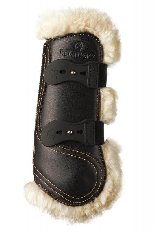 Kentucky Sheepskin Leather Tendon Boots Elastic