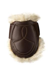 Kentucky Sheepskin Leather Fetlock Boots Velcro Brun