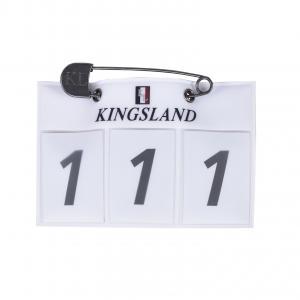 Kingsland Nummerlapp vit 3-siffror
